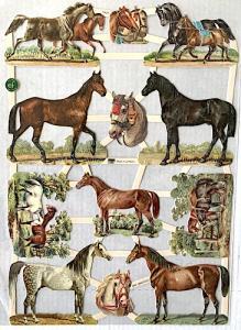 Bokmärken hästar retro9