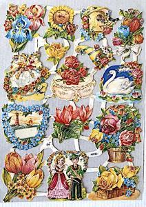Bokmärken blommor vår kärlek retro
