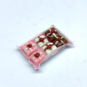 Godis chocolate on plate C