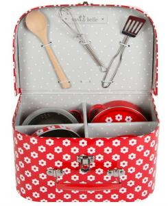 Kids cooking set i väska