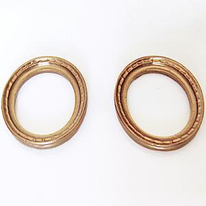 2 st ovala ramar guld