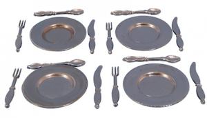 16 delar servis metall