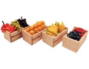 4 st Frukt o bär i lådor