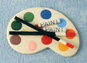 Palett för konstnären
