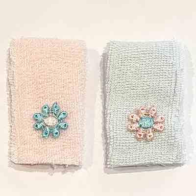 Handdukar rosa blå variant