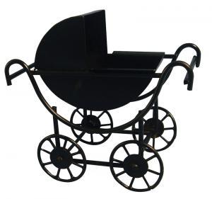 Barnvagn för dockor svart