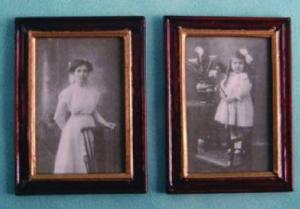 2 st Fotografier bilder fru och barn