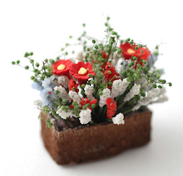 Balkonglåda blomlåda plantering med blommor