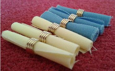 6 st servetter gul blå textil