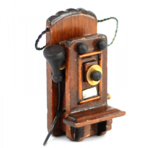 Telefon väggtelefon gammeldags