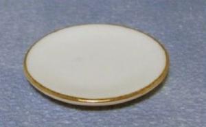 6 tallrikar vita med guldkant tallrik porslin  b 3 cm