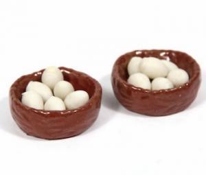 2 st korgar m ägg