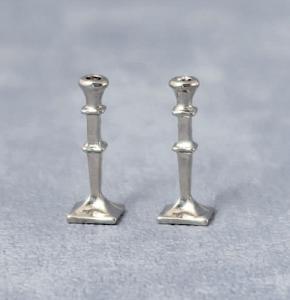 2 st ljusstakar silver