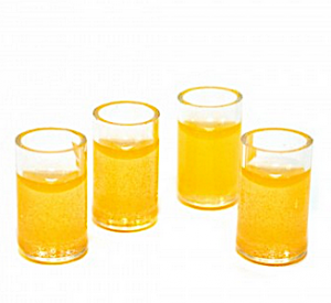 4 st glas juice apelsin