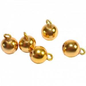 5 st Julkulor guld