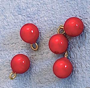 5 st Julkulor röda