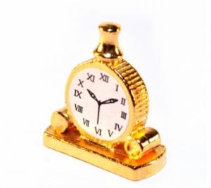 Klocka bordsur guld