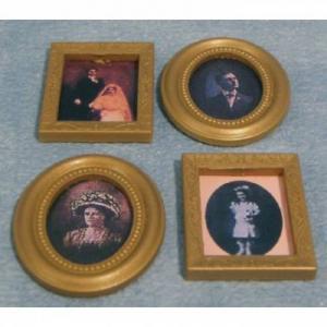 4 st fotografier gammeldags porträtt