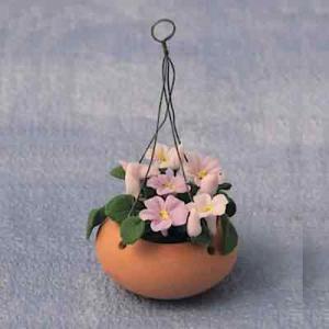 Blomma ampel rosa blommor