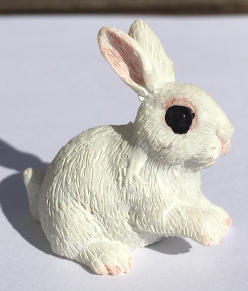 Kanin vit sittande