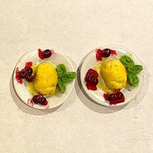 2 st dessert gammeldags glass