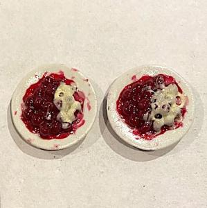2 st dessert fruktkräm bärkräm