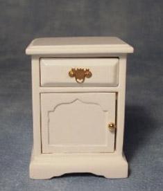 Nattduksbord sängbord pottskåp vit i trä