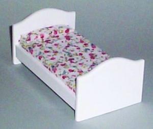 Säng vit blommor barnsäng