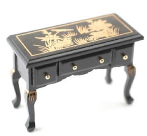 Hallbord sidobord svart m guld