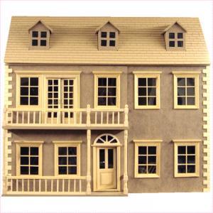 Glenside Grange dockhus med balkong omålat