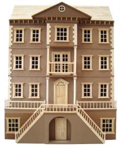 The Mayfair omålat dockhus dockskåp