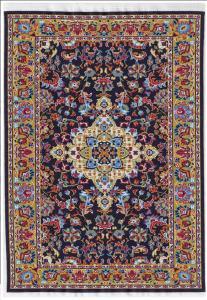 Matta orientalisk äkta matta blå röd gul 29 x 20