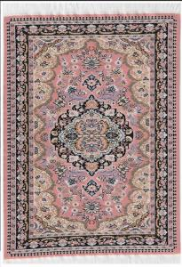 Matta orientalisk äkta matta rosa creme svart 29 x 20