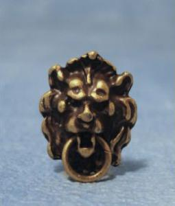 Dörrklapp lejon i bronsfärgad metall