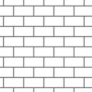 Klinker vägg o golv vit svart