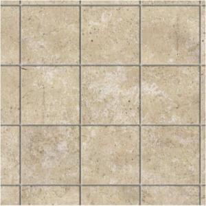 Golv limestone square tiles brown