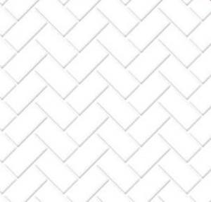 Golv fiskbensmönster vit grå tiles