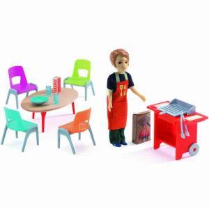 Djeco Barbeque o utebord stolar