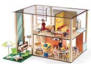 Djeco Cubic House dockhus dockskåp