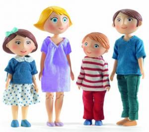 Djeco dockhusfamilj Gaspard & Romy med 2 barn