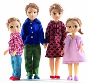 Djeco dockhusfamilj Marion & Thomas med 2 barn