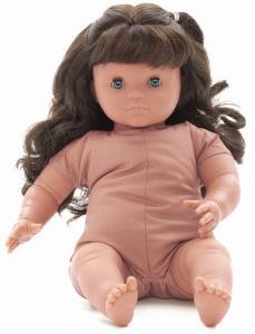 Docka Siri med brunt hår blunddocka flickdocka 42 cm