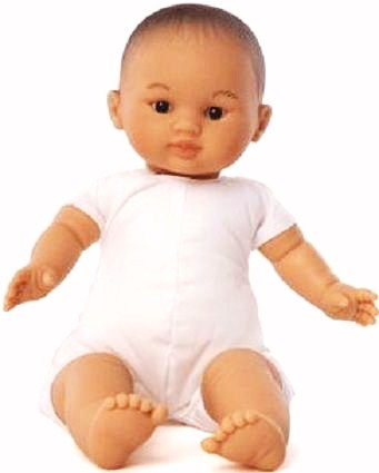 Docka baby Ming asiatisk babydocka