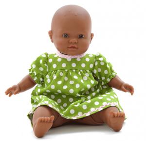 Docka småbarn Lo baby mörk, utan kläder