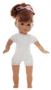 Docka Maria lillasyster, rött hår fräknar, mjuk kropp