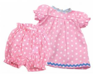 Dockkläder klänning o byxor rosa dockor stl 40-45 cm
