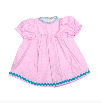 Dockkläder klänning rosa 30 cm