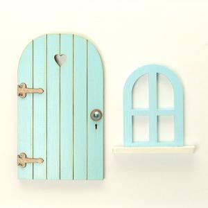Dörr o fönster blå Lyx