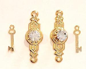 Dörrknoppar kristall m nycklar