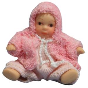 Baby småbarn m rosa jacka